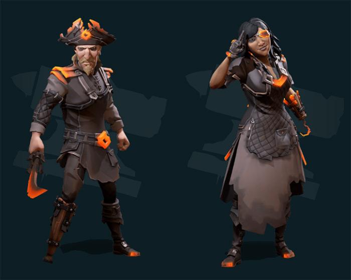 Forsaken Ashes set outfits