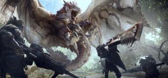 MHW official artwork battle scene