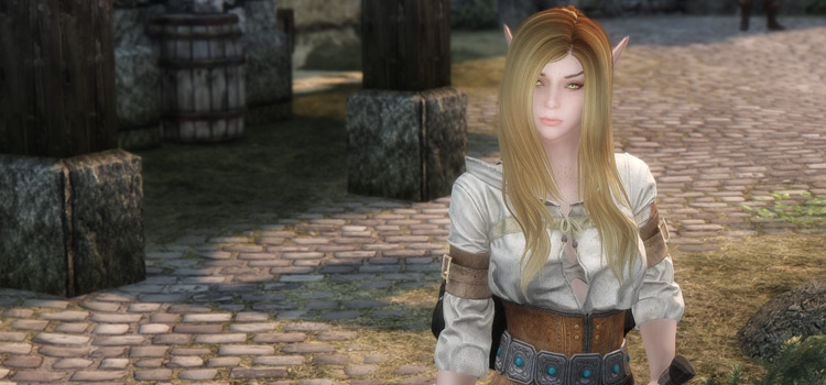 Beautiful girl - Skyrim beauty mod