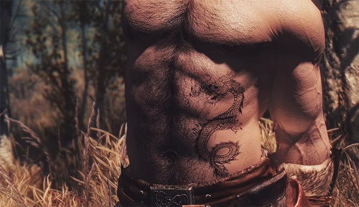 KJ Tattoos mod for Skyrim
