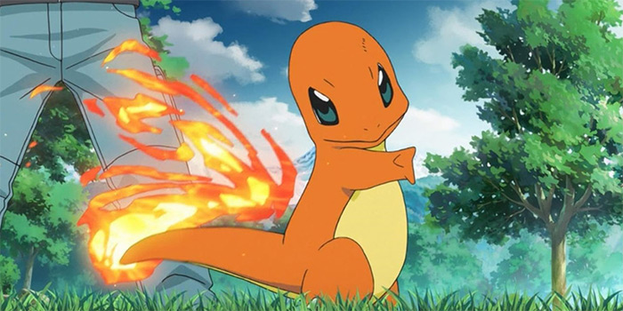 Charmander in the anime