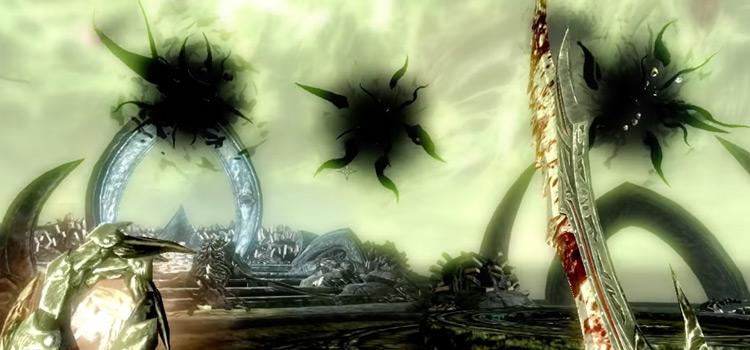 Miraak battle in Skyrim