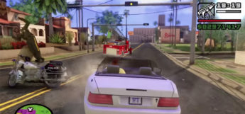 Driving around San Andreas