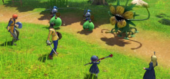 Dragon Quest XI battle scene
