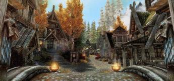 Skyrim town environment