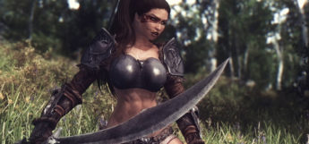 Sexy woman with a sword - Skyrim mod