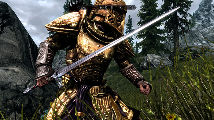 Witchers Silver Sword Skyrim mod