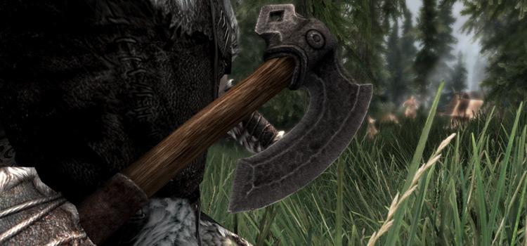 Example Skyrim iron axe mod