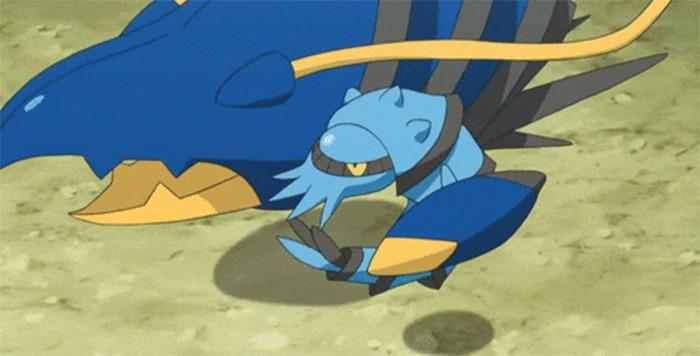Clawitzer in anime