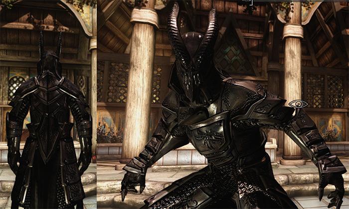 Silver Dragon Armor mod