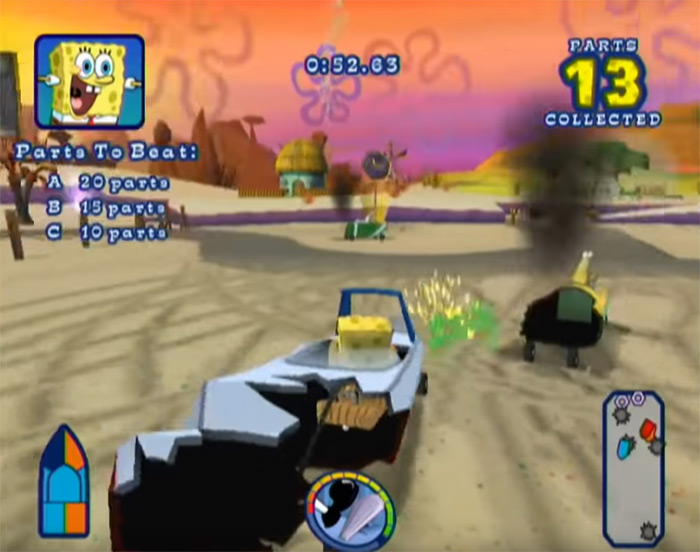 SpongeBob's Boating Bash video game