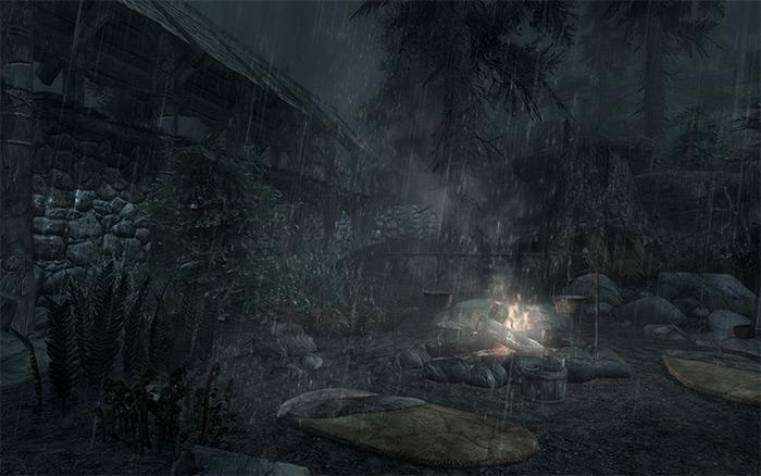 Natural Skyrim Rain Skyrim mod