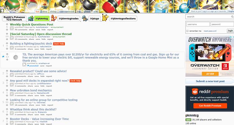 Pokemon tcg subreddit