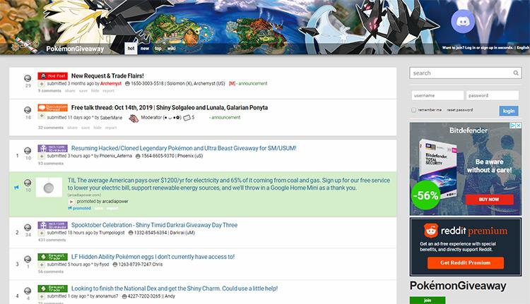 Pokemon giveaway subreddit