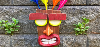 Handmade Aku Aku mask