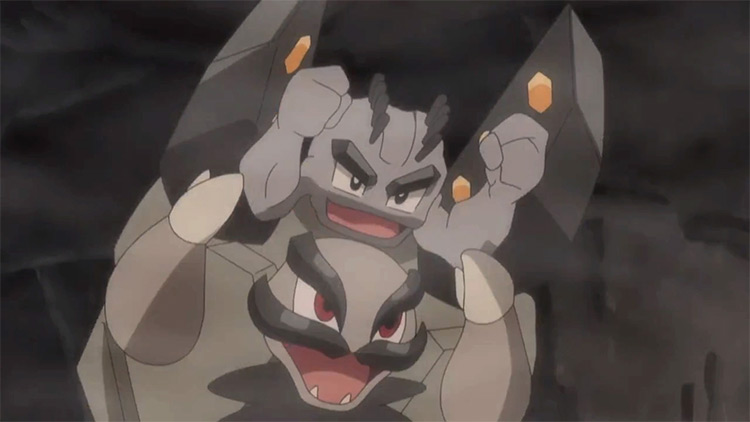 Alolan Golem Pokemon in the anime