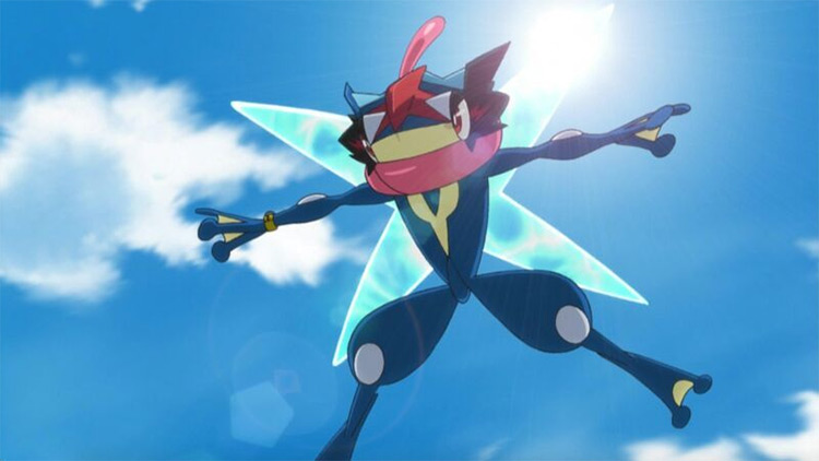 Greninja anime screenshot