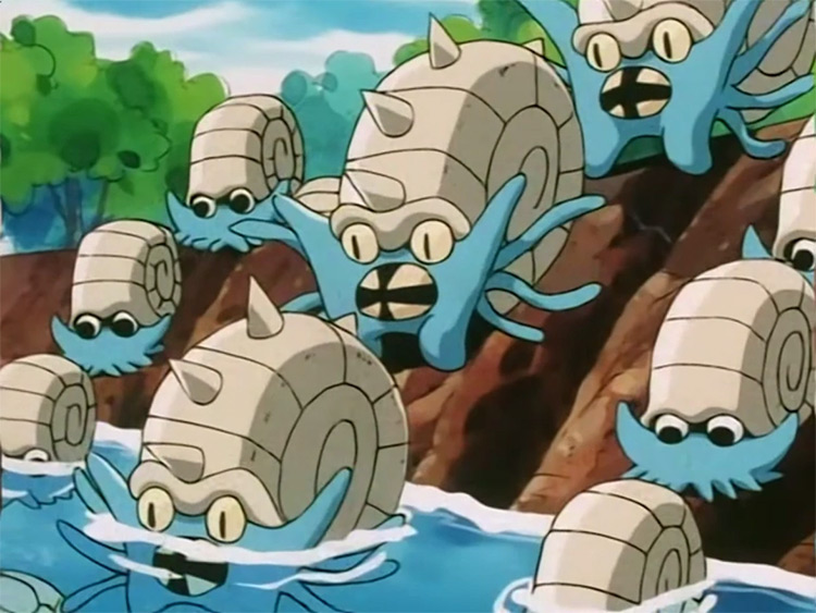 Omastar Pokemon anime screenshot