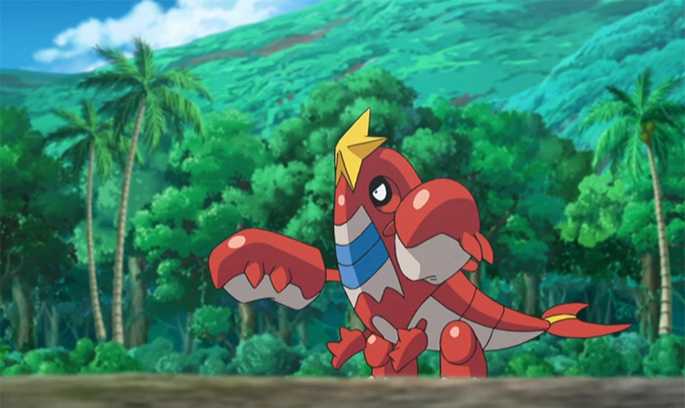 Crawdaunt in Pokemon anime