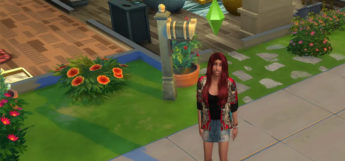 Sims character with green diamond