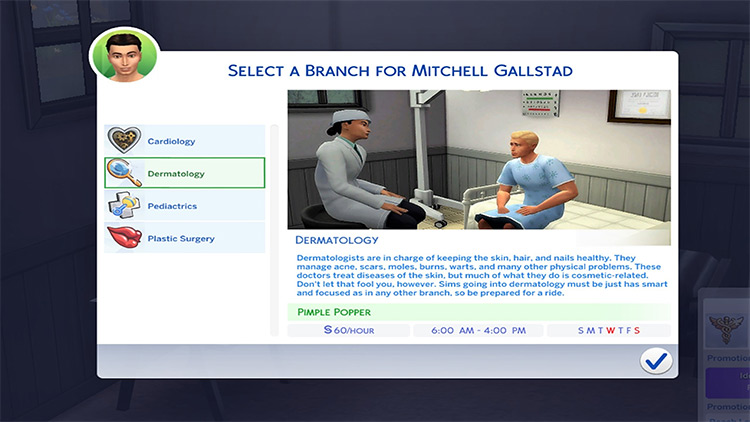 Medical mod for Sims 4