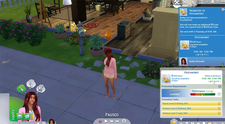 Psychologist career in Sims 4