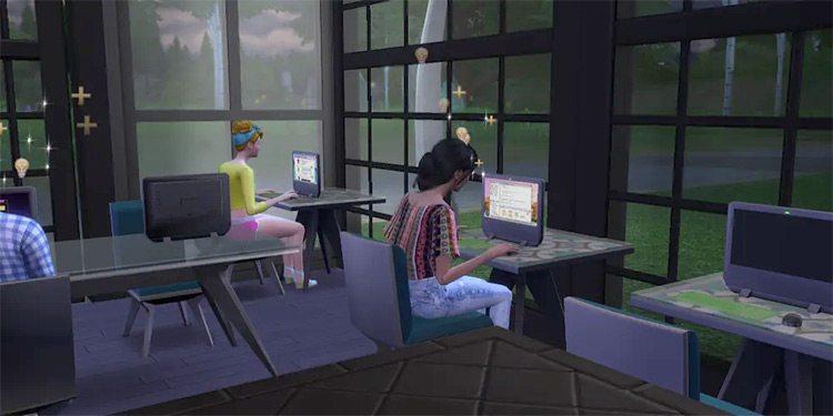 Game Dev career mod in Sims 4