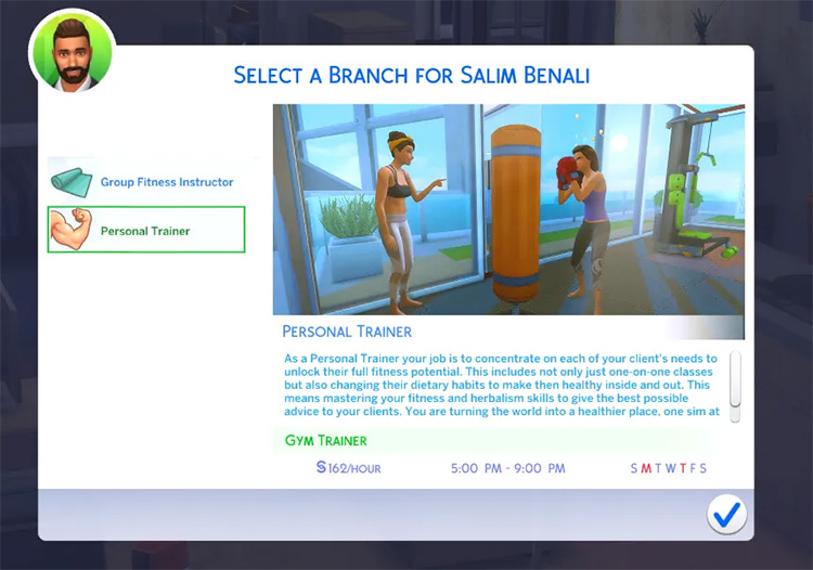 Fitness Instructor Sims 4 mod