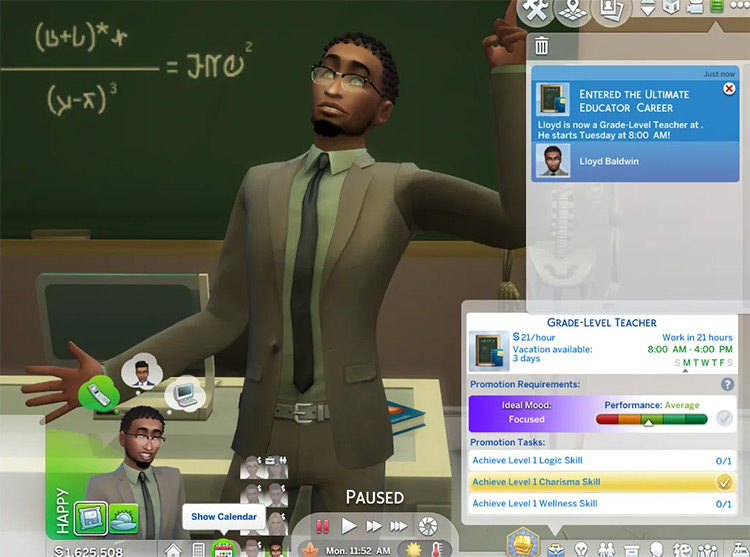 Ultimate Educator Sims 4 career mod