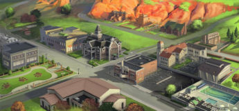 Appaloosa Plains in Sims 3 - concept art