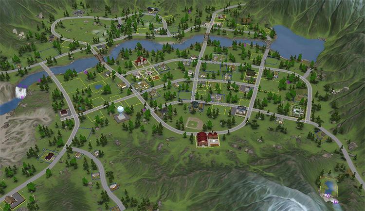 Moonlight Falls in Sims 3