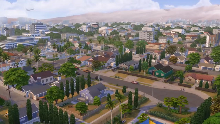 Del Sol Valley, Los Angeles style city in Sims 4
