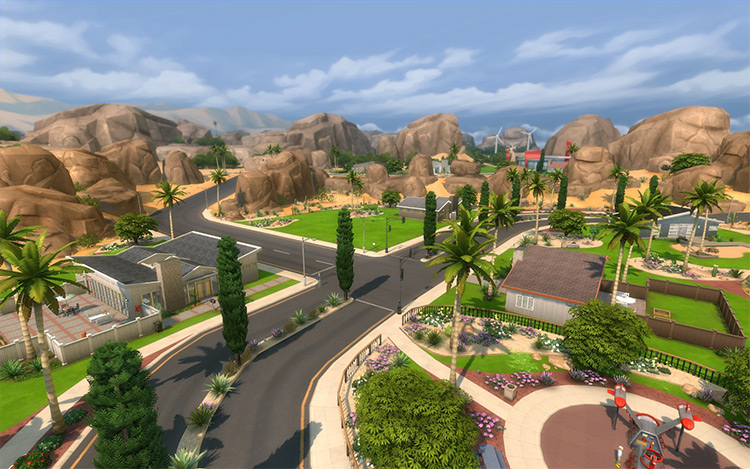 Oasis Springs Sims 4