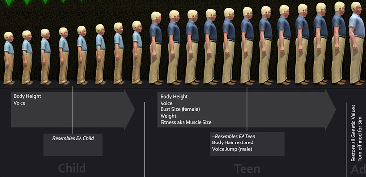 Progressive Aging mod Sims 3