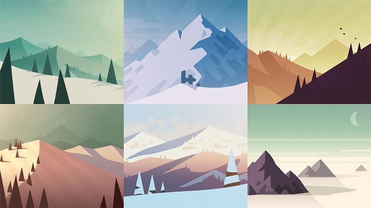 Quick landscape paintings