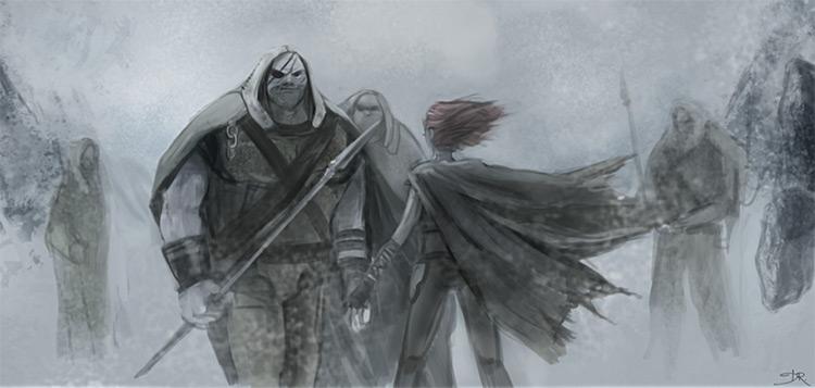 Dark environment painting