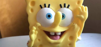 Rare SpongeBob 2000s collectible toy close-up