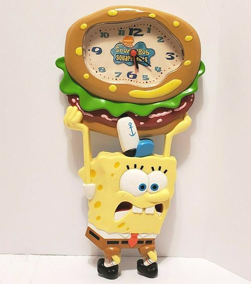 Rare 2004 SpongeBob vintage wall clock, Nickelodeon merch