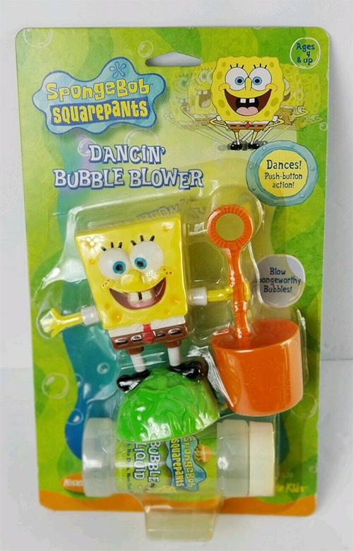 Rare SpongeBob collectible - bubbles blower wand toy