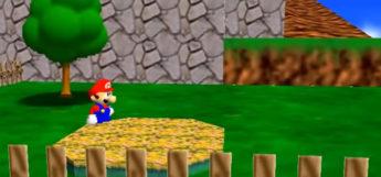 Screenshot of Super Mario 64 gameplay