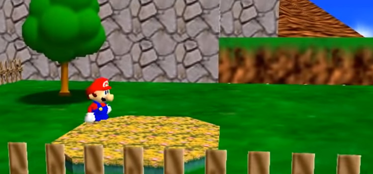 Screenshot of Super Mario 64 gameplay