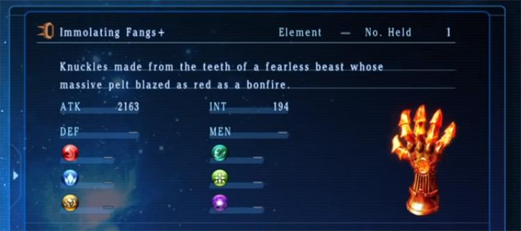 Immolating Fangs from Star Ocean 5
