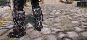 Skyrim Daedric Boots reimagined - custom mod