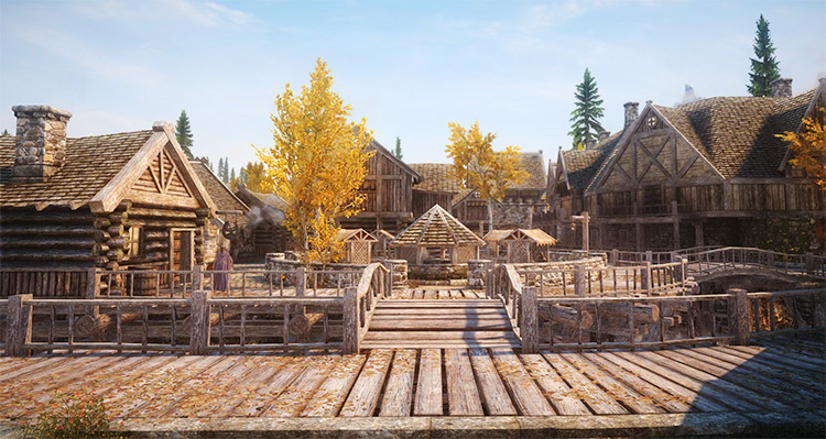 Riften city in Skyrim