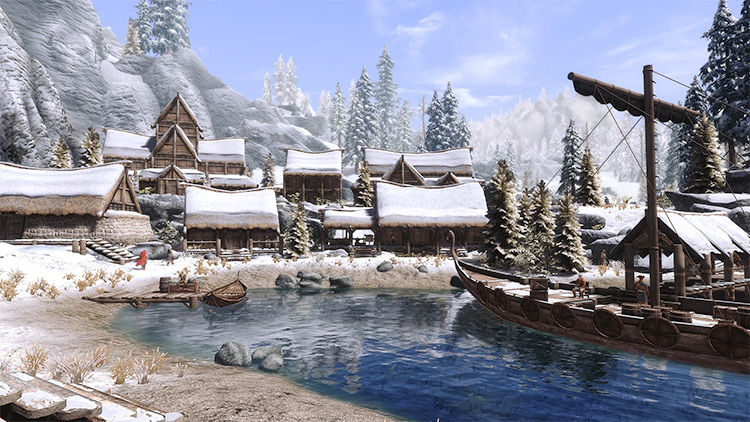 Dawnstar city in Skyrim