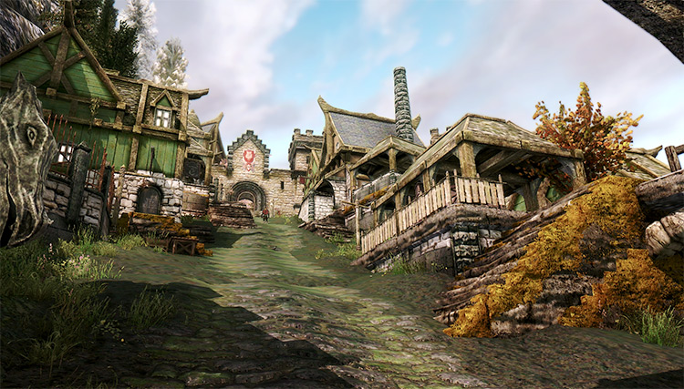 Solitude city in Skyrim