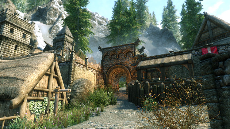 Dragon Bridge in Skyrim