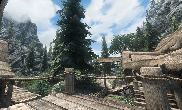 Riverwood town in Skyrim