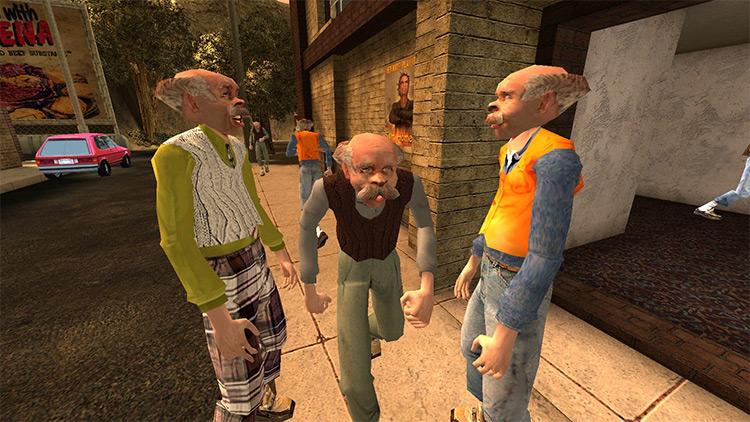 Old Timer Bystanders in Postal2