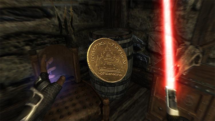 Galactic Credit retexturing mod for Skyrim